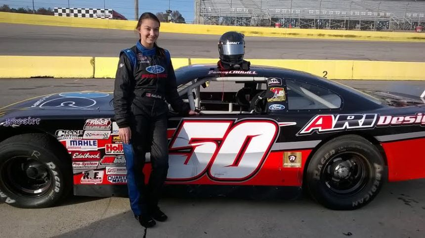 Haley Moody will make her Late Model Stock Car debut in the Thanksgiving All-Star Classic at Southern National Motorsports Park. (Photo credit: Andy Marquis/Southern National Motorsports Park)