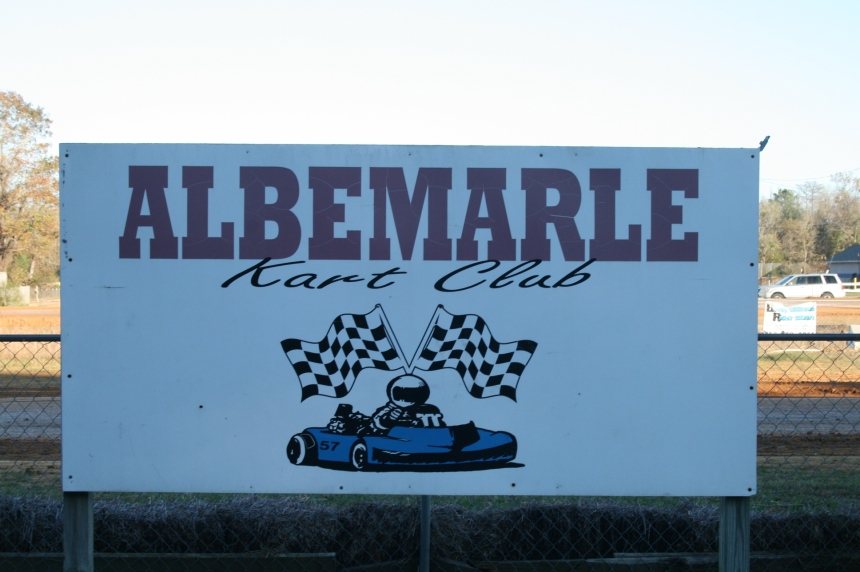 Albemarle Kart Club sign