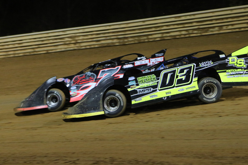 Victory Pro Late Models Battle Side-by-Side at VMS (Photo Credit: Al Goulder/ Al Goulder Photography)