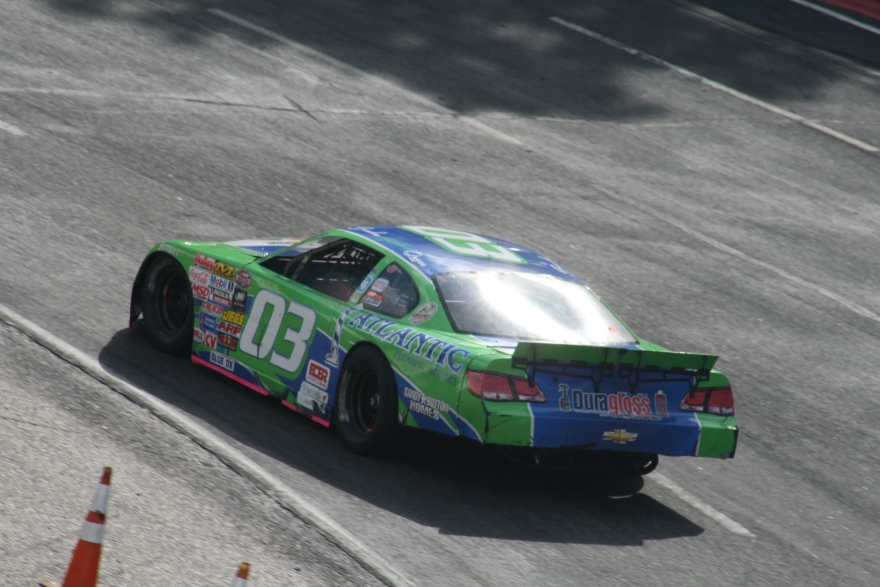 #03 Brenden Queen gets the car dialed in during afternoon practice. (Justin Kern/TheWeeklyRacer.com)