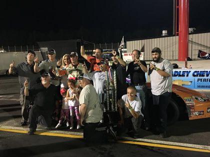 #11 Jeff Oakley wins the 150-lap season finale at Dominion Raceway
